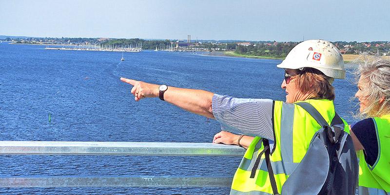 Brovandring Marbæk havn og Fr.sund i baggrunden