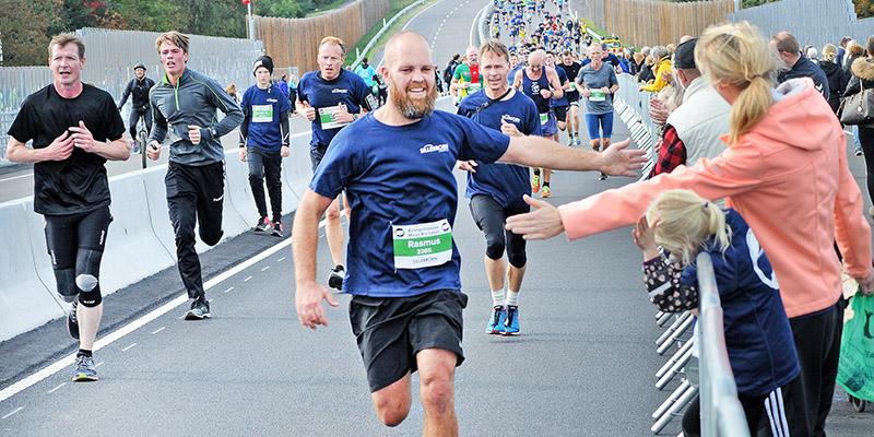 Stigningen i slutningen af løbet tog de sidste kræfter fra en del løbere. Foto: Steen Westh